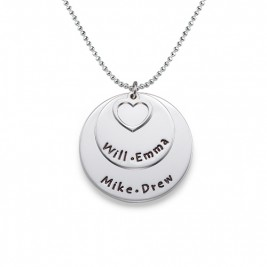 Family Necklace in Sterling Silver