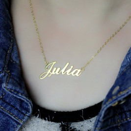 Personalised Classic Name Necklace in 18ct Gold Plated