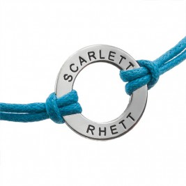Leather Style Cord Engraved Bracelet/Anklet