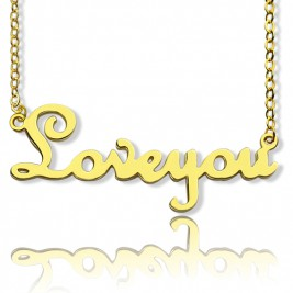 Personalised Cursive Name Necklace 18ct Gold Plated