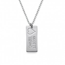Name Bar Necklace in Silver