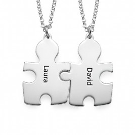 Personalised Silver Puzzle Necklace