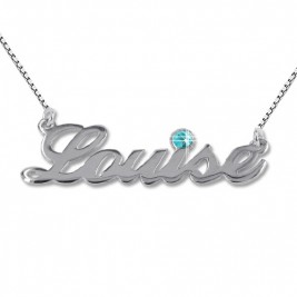 Silver and Swarovski Crystal Name Necklace
