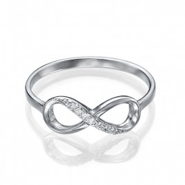 Sterling Silver Cubic Zirconia Infinity Ring