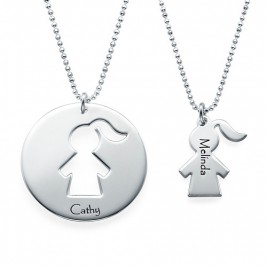 Unique Gift for Mum - Mother Daughter Necklace Set