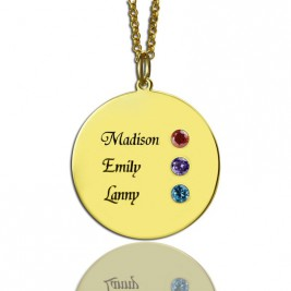 Custom Disc Necklace Engraved Names For Mom