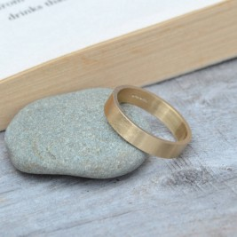 Personalised Wedding Band In 9ct Yellow Gold 4mm Wide