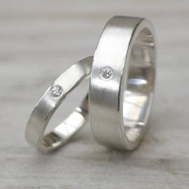His And Hers Silver Wedding Rings