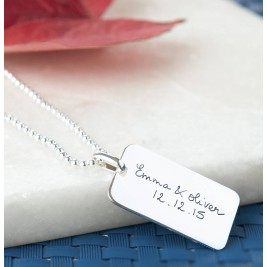 Mens Personalised Dog Tag Chain Necklace