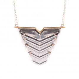 Romeo Necklace Rose Gold Vermeil And Silver