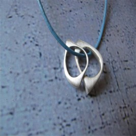 U And Me2 Infinity Silver Pendants On Leather