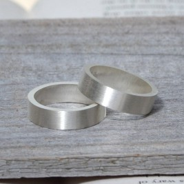 Personalised Wedding Band In Sterling Silver