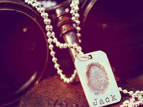 Finger Print Necklace and jewellery