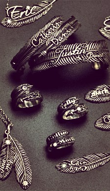 feather style jewellery